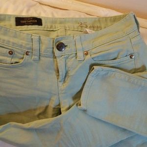 Toothpick mint jeans